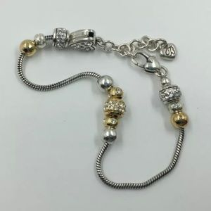 Brighton Preowned Bracelet w/ 11 New Mini Beads